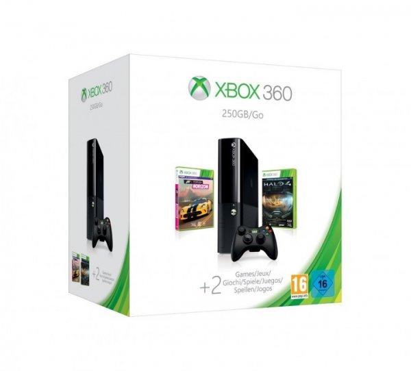 Microsoft Xbox 360 Slim 250GB (Xbox One Design) + Spielehit Halo 4 + Forza Horizon