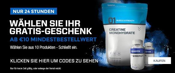MYPROTEIN Geschenke (Einige über 10Euro Wert!) gratis MBW 10 Euro!