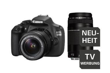 Canon EOS 1200D Kit 18-55 mm + 75-300 mm für 499€ @Saturn