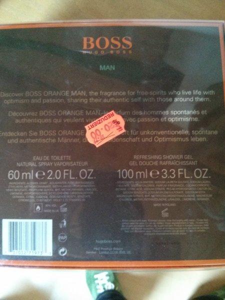 Hugo Boss Orange Geschenke Set 60 ml edt+100ml DG Kaufland Dossenheim