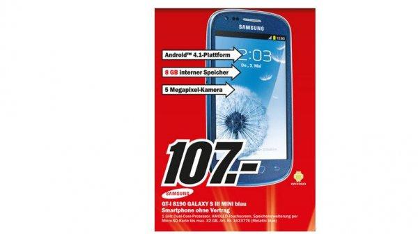 (Media Markt Offline ) Samsung Galaxy S3 Mini Gründau Lieblos 63584 + Ab 100€ ComBinho Kostenlos