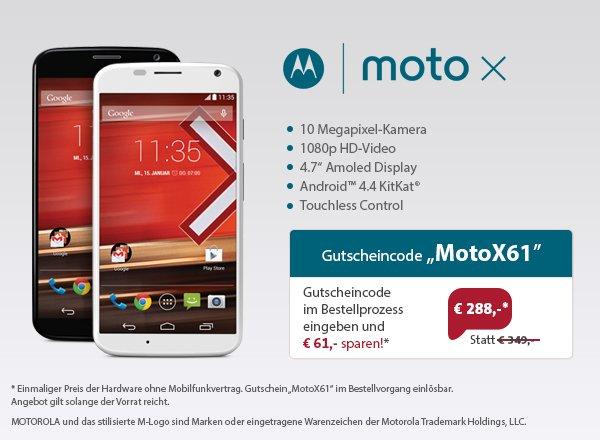 Sparhandy - Motorola Moto X  - ohne Vertrag -  288 EUR
