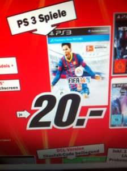 Lokal Gründau lieblos media markt ps3 fifa 14 20€