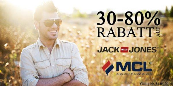 Bis zu 80% Rabatt auf Jack & Jones Artikel - Große Auswahl + 10€ Gutschein ab 50€ Bestellwert (Hoodboyz)