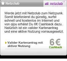 Netzclub - 6 Euro Cashback @qipu