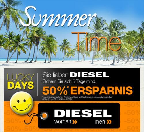 Mindestens 50% Ersparnis auf alle Diesel-Artikel bei dress-for-less bis (Aktion bis 24.07.)