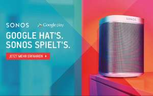 Sonos Play-Boxen + 6 Monate Google Play Music gratis