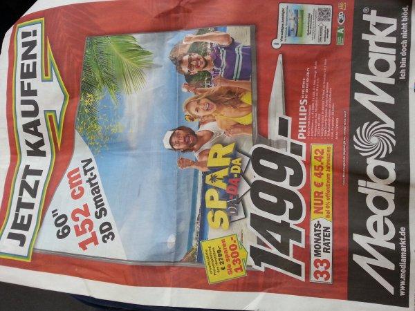Philips 60 pfl 8708 s für 1499€ [idealo: 2199] @ mediamarkt kassel