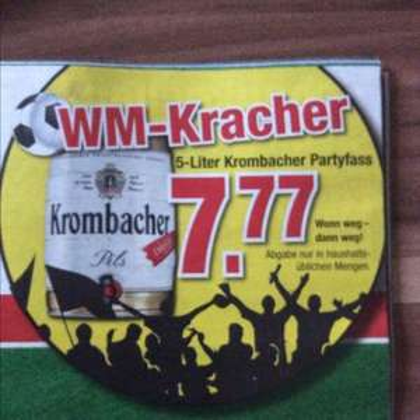 7.77€ 5-Liter Krombacher Partyfass [Lokal] Möbel Hardeck Bochum