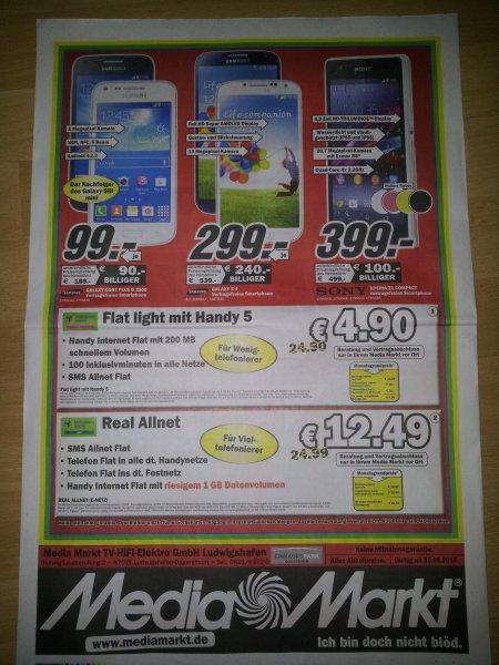 Samsung Galaxy S4 bei MediaMarkt Oggersheim/ Ludwigshafen