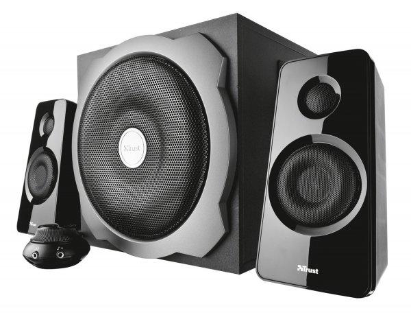 [MM Hamburg] Trust Tytan 2.1 Lautsprechersystem mit Subwoofer schwarz 29 Euro (-43% ggü. Idealo)