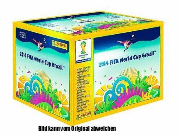 Panini WM 2014 Brasil 100 Tüten / 500 Sticker [29% Ersparnis!]