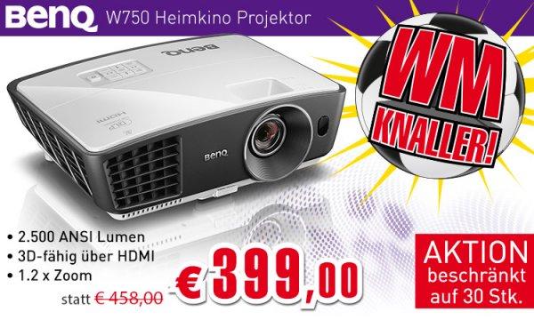 BenQ W750 DLP Beamer 3D fähig um €405,99 inkl. VSK