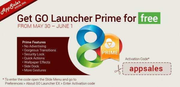 [GooglePlay] Go Launcher Prime kostenlos über promo code
