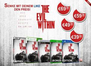 The Evil Within UNCUT - XBOX ONE - PS4 etc. für evtl. nur 46,90 Euro bei 50.000+ Likes