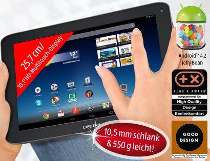 "[Aldi Süd, ab 05.06.14] MEDION® LIFETAB® E10320 25,7 cm/10,1"" Tablet-PC Quadcore mit WLAN"