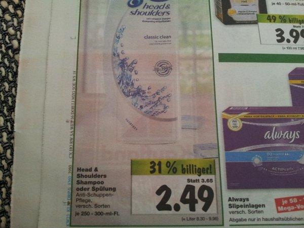[Kaufland bundesweit] Head & Shoulders Shampoo für nur 1,49€