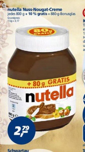 880 Gr. (Diätcreme) Nutella ab Montag bei Real