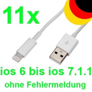 [Ebay] 11 x iphone 5 Lade Kabel 5S 5C Ipad 4 Air mini Ipod USB Datenkabel Lightning