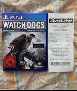 "[Lokal HH] [MediaMarkt] Watch Dogs ""Special Edition"" für PS4 für 49,99€"