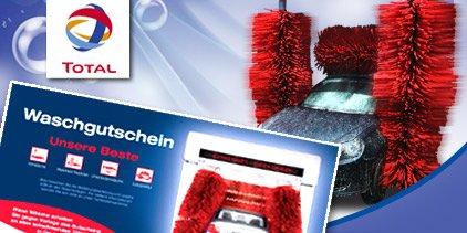 """2 Waschkarten für die """"beste"""" Autowäsche von TOTAL für 15,90€ statt 27€ bei Dailydeal"""