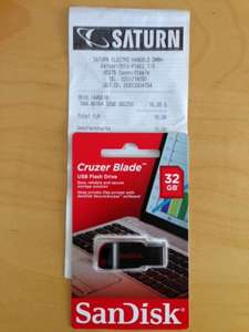 (lokal) Saturn  Essen Steele, SanDisk 32GB Cruzer Blade 10€