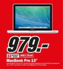 """MacBook Pro 13"""" für 979 € [MediaMarkt Frankfurt]"""
