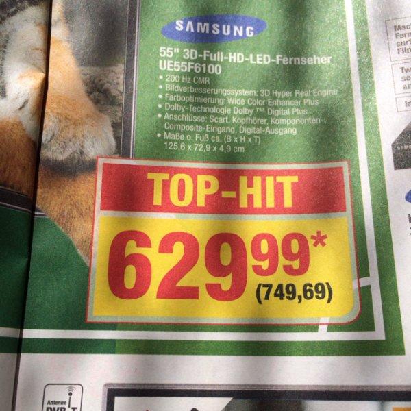 "Offline @ Metro: Samsung UE55F6100 55"" LED TV 50€ unter idealo.de 150€ unter Amazon"