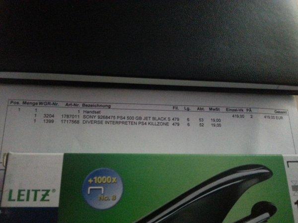 PS4 + Killzone Media Markt Sindelfingen 419€ (bald Bundesweit?)