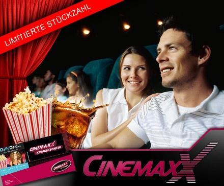[Dailydeal] Cinemaxx Karte + 0,5L Softdrink + Popcorn, bis 15 Uhr, Gutschein funktioniert