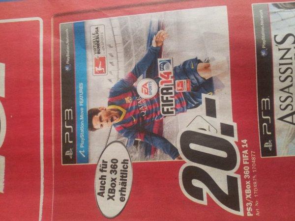 [Aachen] FIFA 14 PS3/Xbox 360 im Media Markt für 20€
