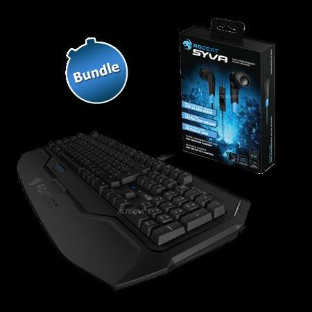 [ zackzack.de] Roccat Mechanische Tastatur MX Black-Schalter Ryos MK mit In-Ear-Headset Syva
