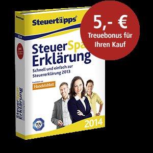 SteuerSparErklärung 2014 (für 2013) als download für Win/Mac