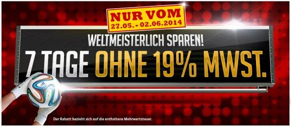 SAM Möbel Shop: 19% Mwst geschenkt und kostenlose Lieferung bis morgen