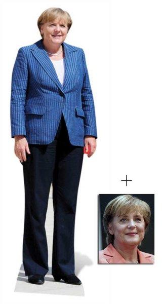 Angela Merkel Lebensgrosse Pappfigur