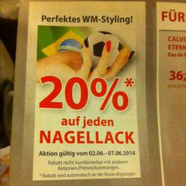 20% auf jeden Nagellack bei Müller