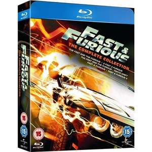 Blu-ray Box - Fast & Furious 1-5 (5 Discs) für €4,57 [@Play.com]