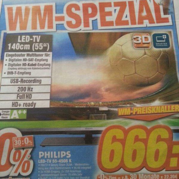 Philips LED-TV 55-4508 K 666€