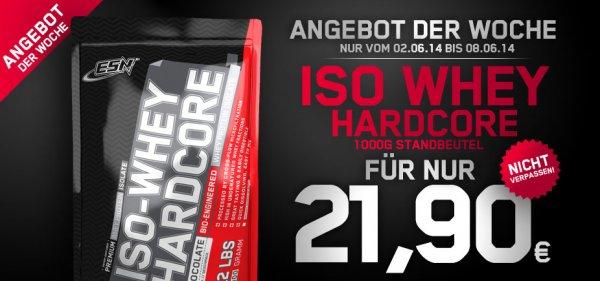 ESN ISO Whey Hardcore nur 21,90€ statt 27,90€(-21,5%) + 15% Rabatt auf alle Pump- & Spezialprodukte + 3,90€ Vsk. bzw. ab 100 € versandfrei