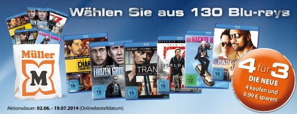 [Müller] 4 für 3 Blu-ray Aktion