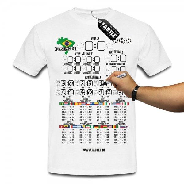 FABTEE WM Spielplan T-Shirt diese Woche 14,90 versandfrei