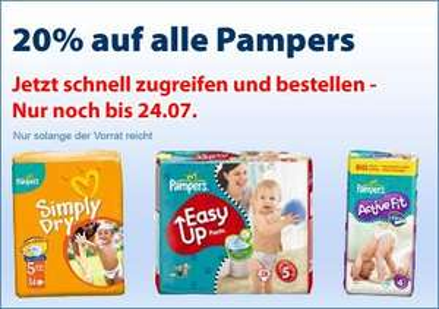 Windeln: Pampers 20% günstiger @schlecker.com