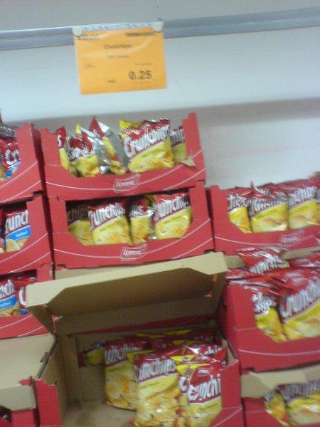 LOKAL - Oldenburg / Bahlsen Werksverkauf (Keks & Co.): Crunchips Mild Cheese 175gr. (MHD 02.06.2014) für 0,25€.