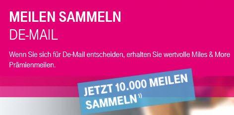 10.000 M&M Meilen für DE-Mail Registrierung