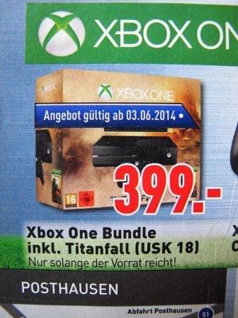 LOKAL [b. Bremen] - Xbox One Bundle inkl. Titanfall (USK 18) für 399€