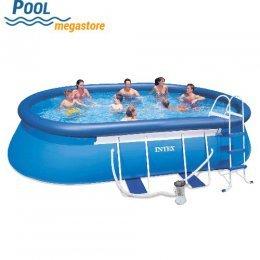 Schwimmbecken / Pool Set in Ovaler Form ohne Versandkosten