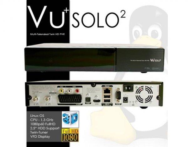 VU+ Solo² HDTV SAT Twin RECEIVER, Linux HDTV Receiver incl. W-Lan Stick  MEINPAKET