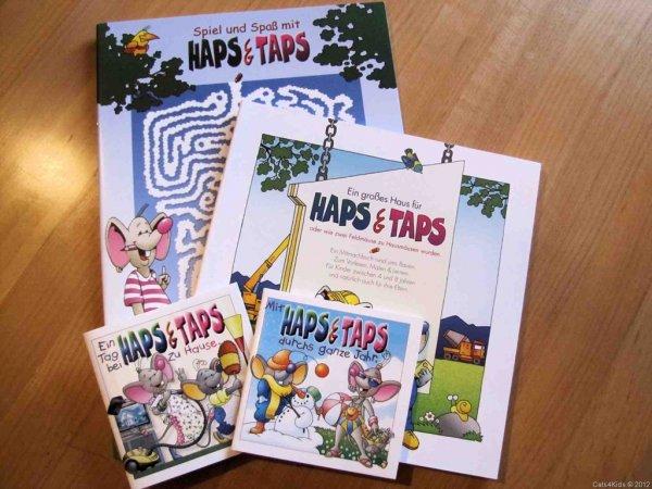 (wieder verfügbar!) HAPS &TAPS neue Kinderbücher, Malbuch. Lesebuch, insg. 4 Stück