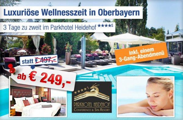 3 Tage Wellnessurlaub für 2 Personen 4* in Oberbayern ab 249,-