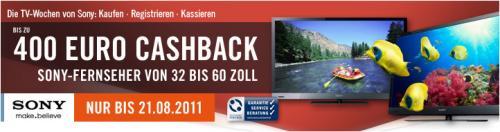 Sony Cashback bis zu 400,- € !!!